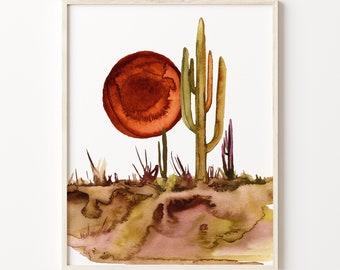 Cactus Print: Botanical Wall Art