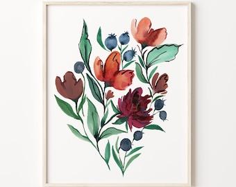 Flowers Wall Art Print