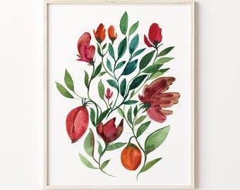 Flower Watercolor Art Print