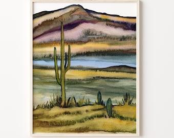 Southwestern Desert Watercolor Print