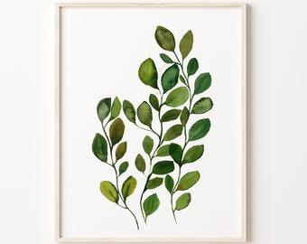 Eucalyptus Print, Eucalyptus Leaves, Botanical Print, Botanical Art Prints, Botanical Wall Art, Botanical Art Print, Eucalyptus Wall Art
