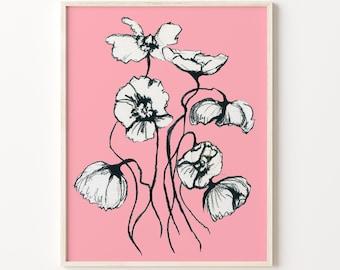 Flower Watercolor Print, Artwork