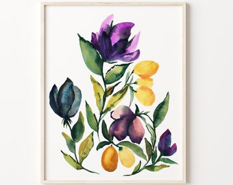 Flower Art Print Watercolor Painting