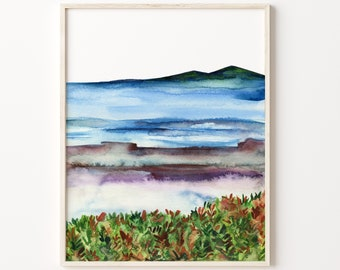 Ocean Watercolor Print