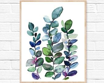 Botanical Print - Eucalyptus Wall Art - Leaf Print - Botanical Art - Eucalyptus Leaf Art - Room Decor - Home Office - Home Decor