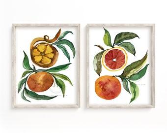 Citrus Prints Kitchen Art by HippieHoppy