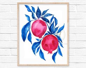 Pomegranate Art Print by HippieHoppy