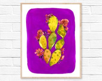 cactus art cactus print cactus wall art cactus art print succulent print cactus botanical print cacti art wall art cacti watercolor cactus