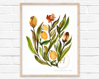 Flower Watercolor Print