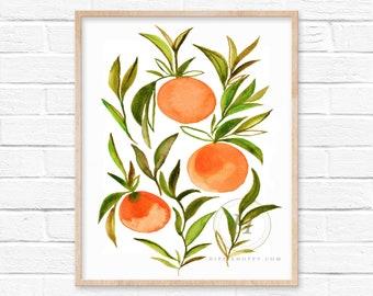 Orange Painting Art by HippieHoppy