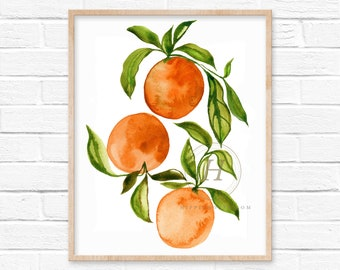 Citrus Oranges Art Print
