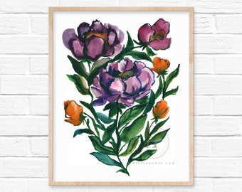 Flowers Watercolor Art Print