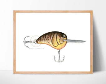 Fishing Lures Art Print, Unframed