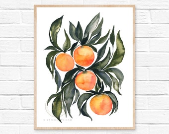 Orange Watercolor Print