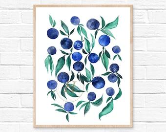 Plum Watercolor Print