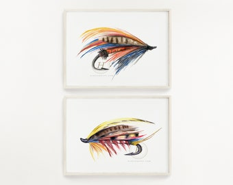Fly Fishing Prints Set of 2