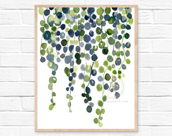 Large String of Pearls Art Print by HippieHoppy