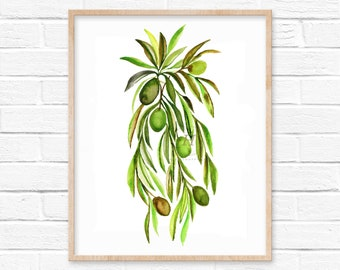 Olives Art Print by hippiehoppy
