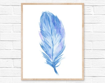 feather watercolor feather art feather print feather painting feather wall art watercolor print watercolor feathers feather art print decor
