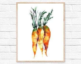 Carrot Watercolor Print