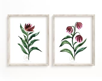 Flower Print Set of 2