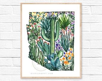 Arizona Watercolor Print