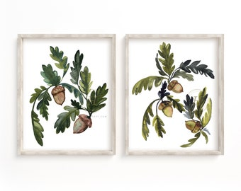 Acorn Print Set of 2
