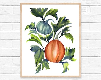 pumpkin watercolor pumpkin painting watercolor pumpkin watercolor pumpkin halloween decor watercolor painting halloween autumn pumpkin art