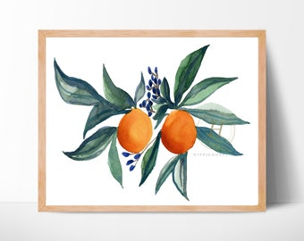 Fruit Oranges Watercolor Print