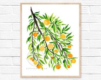Oranges Watercolor Print