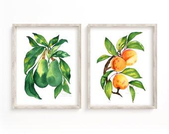 Food Watercolor Prints set of 2