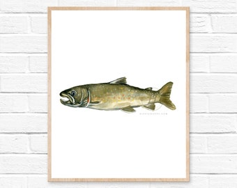 Bull Trout Watercolor Print
