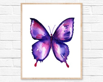 butterfly watercolor butterfly art butterfly painting butterfly print butterfly watercolor painting butterfly poster wall art watercolor art