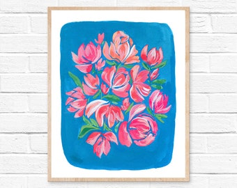 flower painting flowers painting wall art flower art floral painting original print painting flower print home decor wall decor abstract art