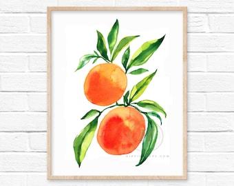 Grapefruit Watercolor Print by HippieHoppy