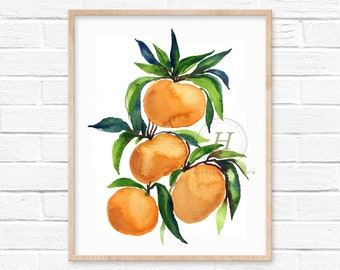 Mandarins Oranges Watercolor Print