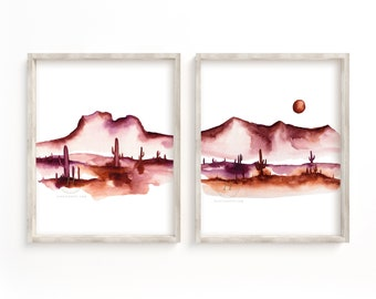 Arizona Desert Print Set of 2