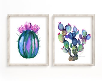 Large Cactus Watercolor Prints