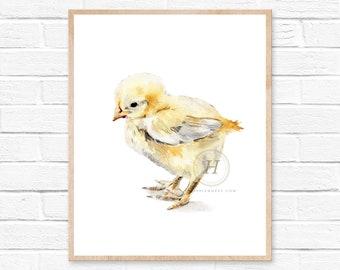 Chick Watercolor Print
