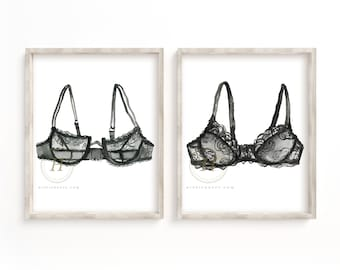 Bra Print Set of 2