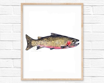 Cutthroat Trout Watercolor Print