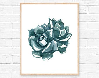 Succulent No.11102 Watercolor Print, Watercolor Plant, Watercolor Cactus, Cacti, Succulent, Succulent Art, Cactus Wall Art, Cacti Decor, Art