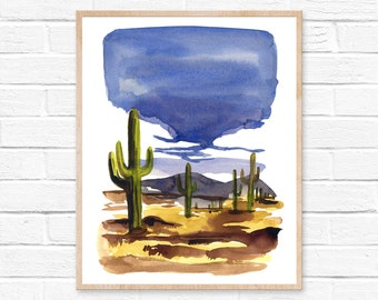 arizona watercolor arizona arizona print watercolor arizona art arizona wall art wall art home decor watercolor art art watercolor painting