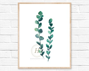 Nature Print, Green Wall Art, Botanical Prints, Botanical Wall Art, Print, Eucalyptus Wall Art, Eucalyptus Print