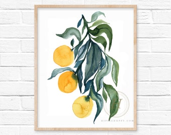 Orange Fruit Watercolor Print