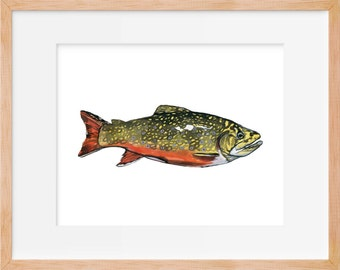 Brook Trout, Trout Print, Hunting and Fishing, Fly Fishing, Fish Art, Fishing Decor, Trout Print, Fishing Wall Art, Fish Wall Art, Fishing