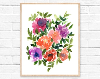 flower watercolor flower painting flowers watercolor watercolor painting watercolor print flower print watercolor flowers home décor flowers
