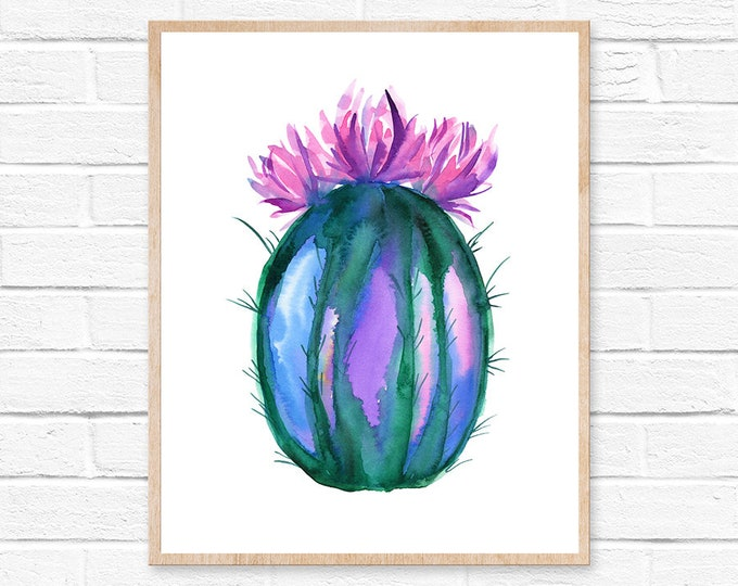 Featured listing image: Cactus Watercolor Print Cactus Painting Cacti Cactus Watercolor Art Home Decor Painting Southwestern Painting Greenery Cacti Art Boho Decor