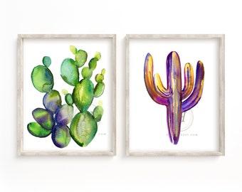 Cactus Prints set of 2