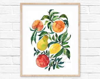 Fruit Watercolor Print